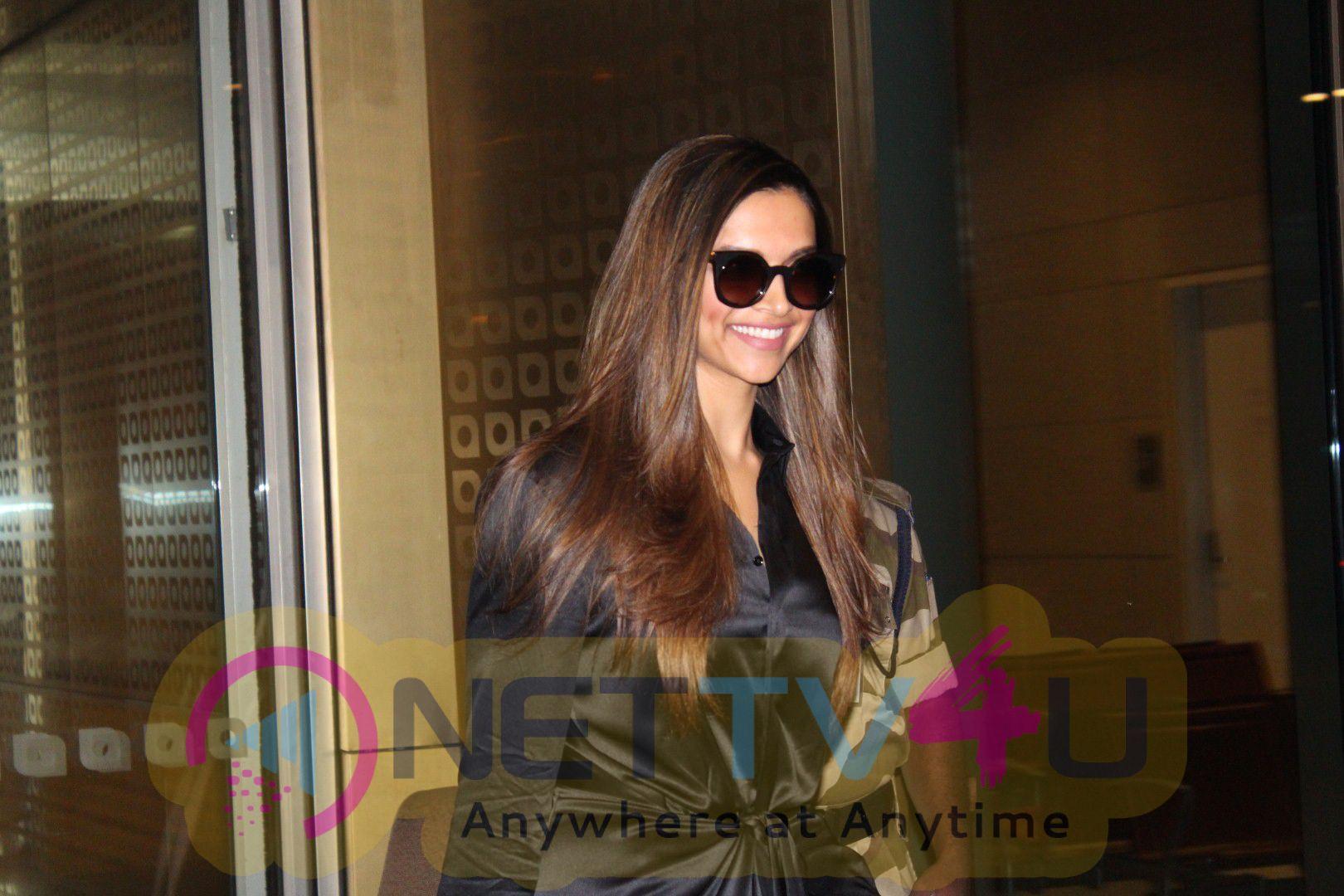 Actress Deepika Padukone Return Back In Mumbai Spotted At Airport Photos