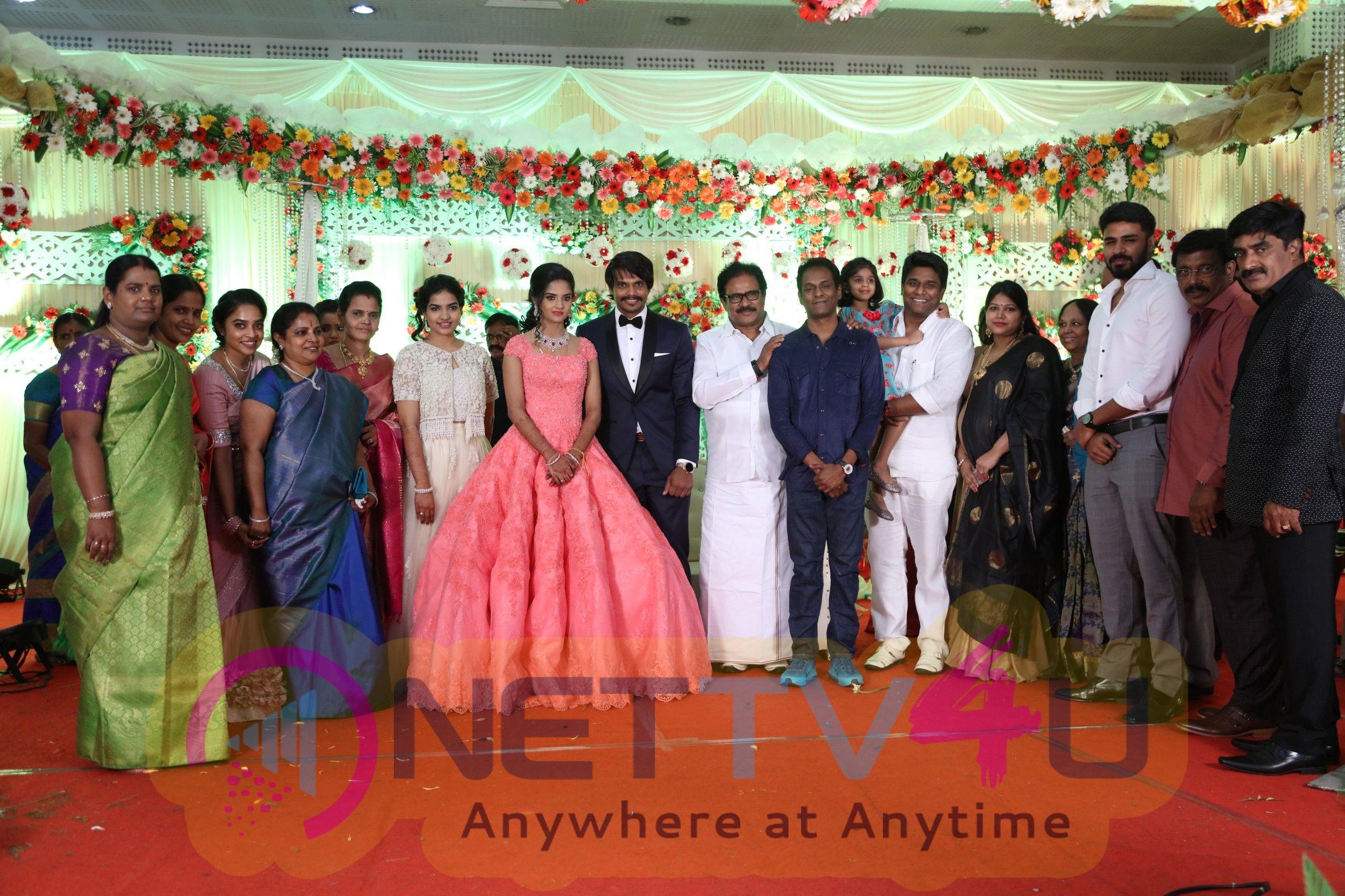 Esakki Kishore - Chandra Roshini Wedding Reception Images
