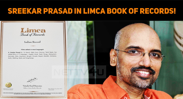 Sreekar Prasad Gets His Name Registered In Limc..
