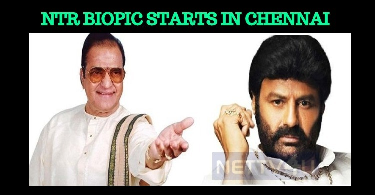 NTR Biopic In Chennai!