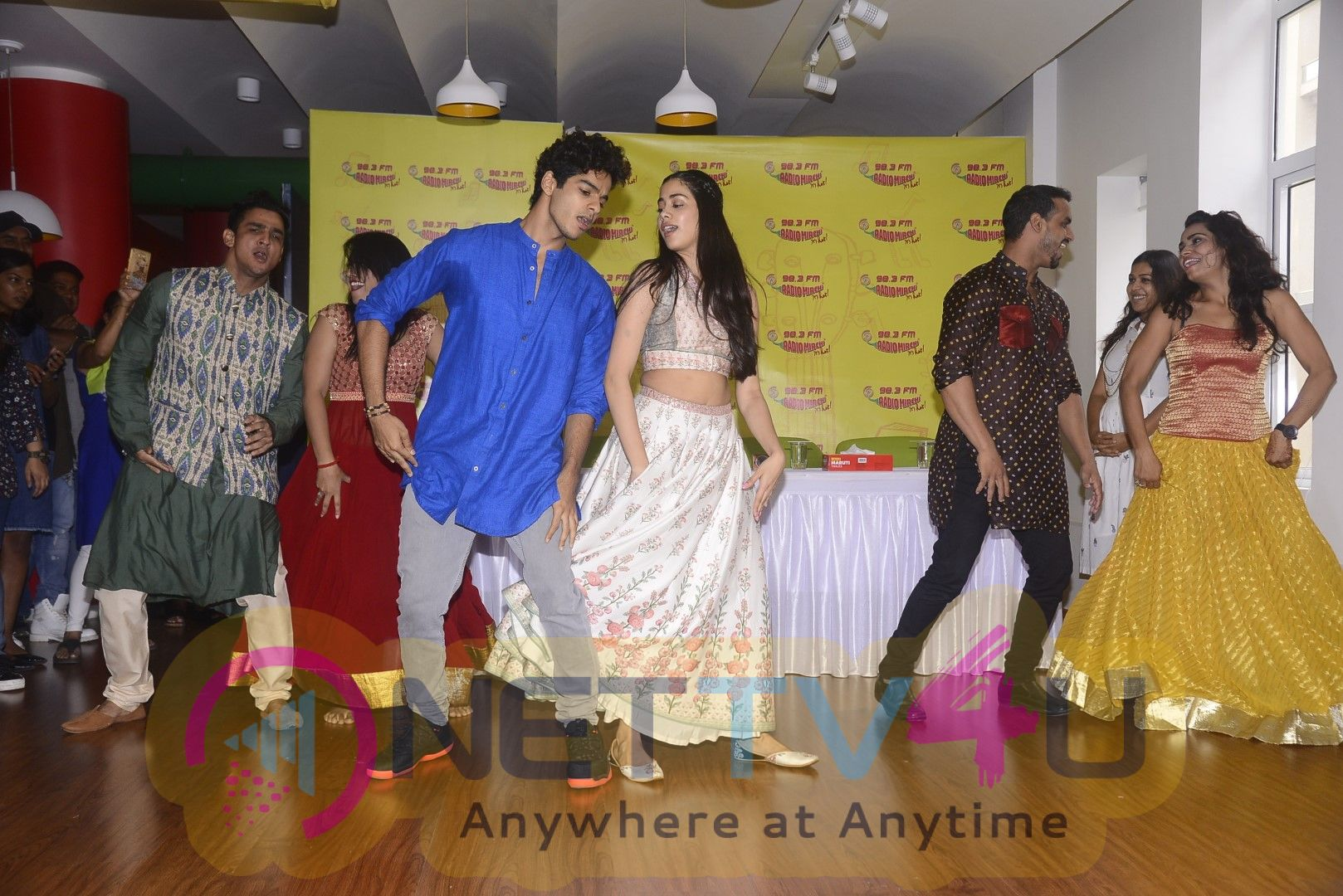 Launch Of Zingaat Song From Film Dhadak At Radio Mirchi In Mumbai Exclusive Images