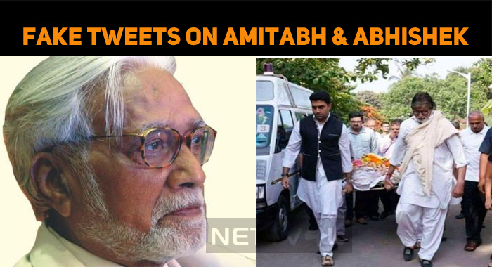 Fake Tweets On Amitabh And Abhishek!