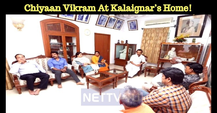 Chiyaan Vikram At Kalaignar's Home!