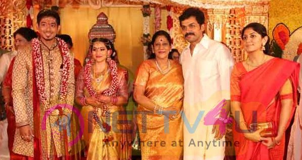 Actor Vishal Sister's Marriage Photos