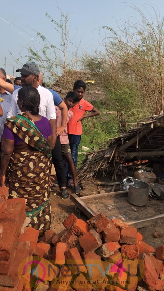 Actor Raghava Lawrence Visit The Delta People Pics