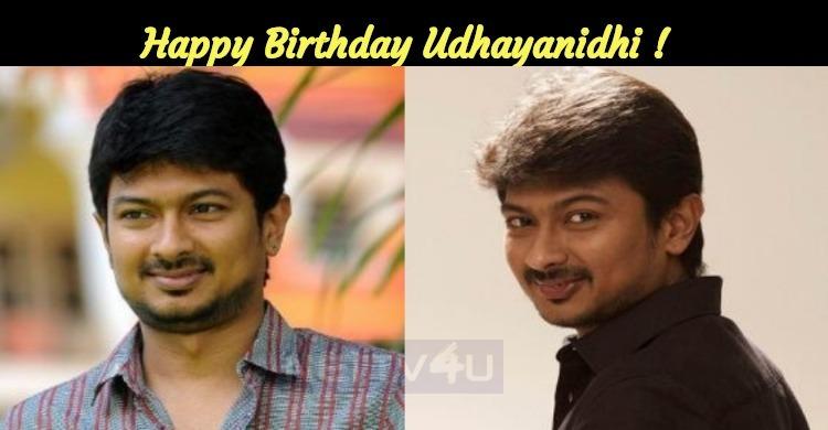 Udhayanidhi Stalin Celebrates His Birthday Today!