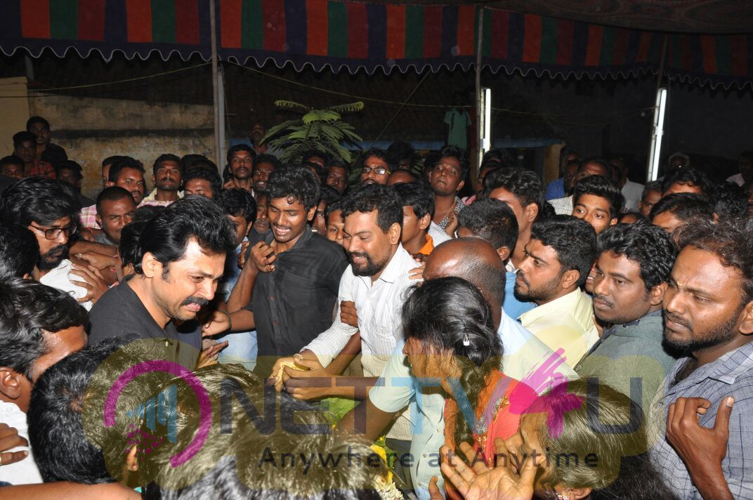 Actor Karthi Attended His Fan Funeral Images