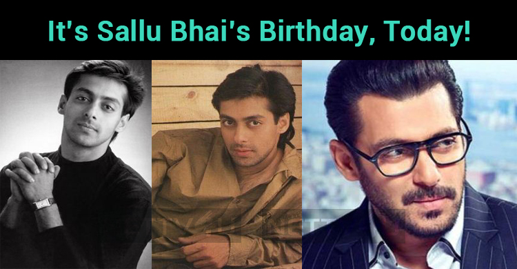 It's Sallu Bhai's Birthday, Today!