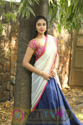 Actress Angana Roy Half Saree Exclusive Photos