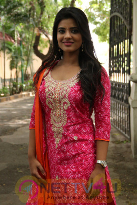 Aishwarya Rajesh Good Looking Photos At Dharma Durai Press Meet