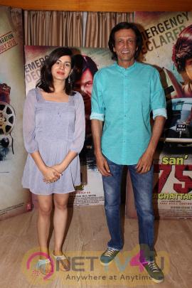 Kay Kay Menon & Kirti Kulhari At Interview For Film San 75 Pachattar Exclusive Stills