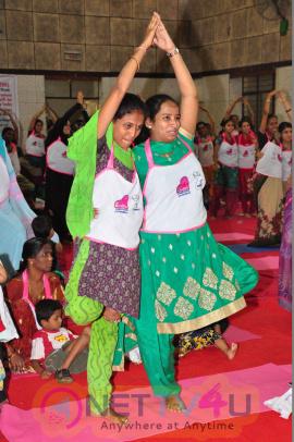 Kovida Foundation International Yoga Day Celebrations Dazzling Stills Telugu Gallery