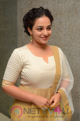 Nithya Menen Stylish Images At 100 Days Of Love Press Meet Telugu Gallery