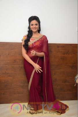 Srimukhi Good Looking Photos At Pelli Choopulu Telugu Movie Audio Launch Telugu Gallery