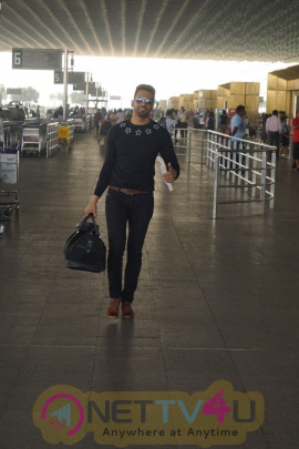 Airport Spotted Actor Upen Patel Travelling To Chennai For His Film Shooting