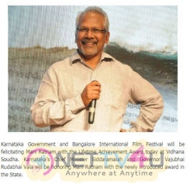 Karnataka Awards To Mani Ratnam Tamil Gallery