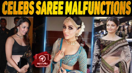 10 Celebs Saree Malfunctions