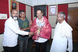 Legends Join In Tamilarasan Movie Songs Recording Images