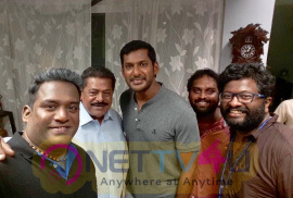 Irumbu Thirai Tamil Movie Working Stills Tamil Gallery