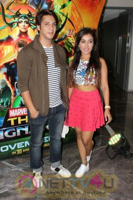 Rithvik Dhanjani, Asha Negi & Raqesh Vashisth At Special Screening Of Film Thor Ragnarok Pics