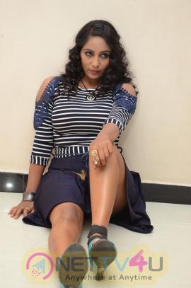 Actress Megana Hot Images At HBD Movie Audio Launch