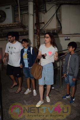 Sonali Bendre & Prem Chopra Spotted At Juhu PVR Stills