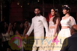 Shahid Kapoor & Mira Rajput Showstopper For Designer Anita Dongre R Elan At Lakme Fashion Week Pics
