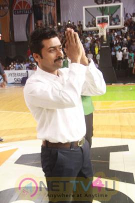 Actor Surya Felicitates UBA Pro Basketball Players In Sathyabama University Pics Tamil Gallery