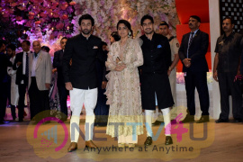 Aakash Ambani And  Shloka Mehta Engagement At Antilia In Mumbai Cute Images
