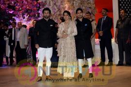 Aakash Ambani And  Shloka Mehta Engagement At Antilia In Mumbai Cute Images