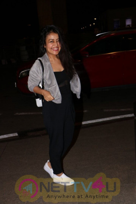 Neha Kakkar,Tony Kakkar & Sonu Kakkar Spotted At Airport Images Hindi Gallery