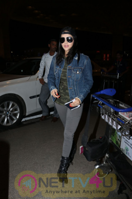 Sunny Leone Spotted At Airport Pics Hindi Gallery