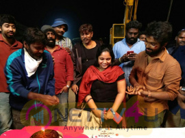 GV Prakash Wife Saindhavi Birthday Celebration Images Tamil Gallery