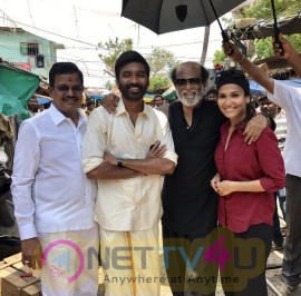 Rajinikanth Surprise Visit To VIP2 Last Day Shoot Tamil Gallery