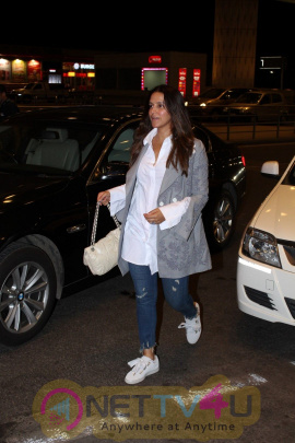 Stills Of Neha Dhupia Spotted At Airport