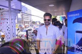 Photos Of Sai Dharam Launches Samsung S8plus At Technovision Mobile Store Telugu Gallery