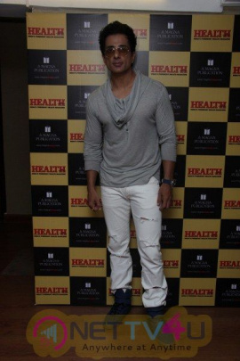 Sonu Sood Flaunts On The Cover Of A Health Magazine Photos