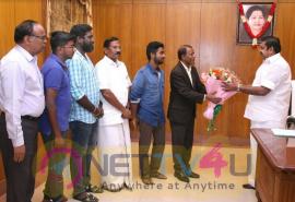 Actor & Composer GV Prakash Meets Tamil Nadu CM Edappadi K Palaniswami Pic Tamil Gallery