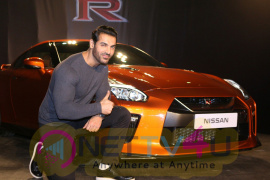 John Abraham At Launch Of Year's Much Awaited Car NISSAN GTR Beautiful  Hindi Gallery