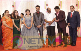 Actor Ramesh Khanna Son R.S.Jashwanth Kannan And K.Priyanka Wedding Reception Pics