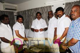 Producer Radhakrishnan Team Meets CM Edappadi K.Palaniswami Stills Tamil Gallery