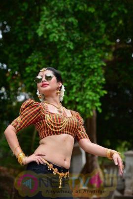 Lanka Actress Ena Saha Hot Naval Show  Telugu Gallery