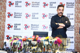 Kamal Haasan's Makkal Needhi Maiam Press Meet Pics Tamil Gallery