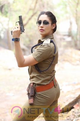 Actress Gurleen Chopra Bold Police Look Telugu Gallery