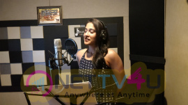 Actress Regina Cassandra Dubbing In Own Voice At Mr ChandraMouli Movie Pics