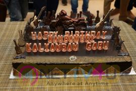 Nandamuri Kalyan Ram Birthday Celebration On NKR 16 Sets Cute Images