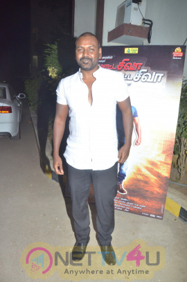 Luminous Photos Of Lawrence And Team In Motta Shiva Ketta Shiva Movie Press Meet Tamil Gallery