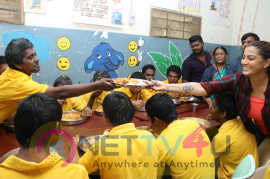 Actress Varalaxmi Sarathkumar Adopted 10 Mentally Challenged Children's Pics