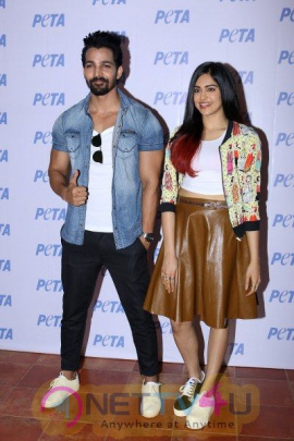 Adah Sharma And Harshvardhan Rane Unveil PETA India First Vegan Fashion Lookbook Hindi Gallery