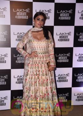Stylish Photos Of Shriya Saran At Lakme Fashion Week 2017
